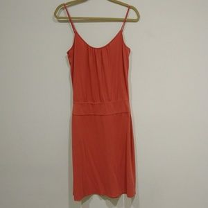 LOFT Red Sun Dress Spaghetti Straps Small